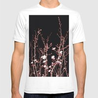 Winter night flowers Mens Fitted Tee White SMALL