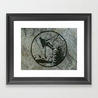 Rockclimbing Framed Art Print
