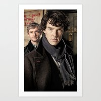 sherlock Art Prints featuring Sherlock  by SRB Productions