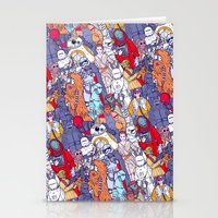 Space Toons in Color Stationery Cards