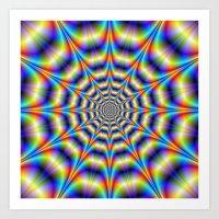 Psychedelic Wheel Art Print
