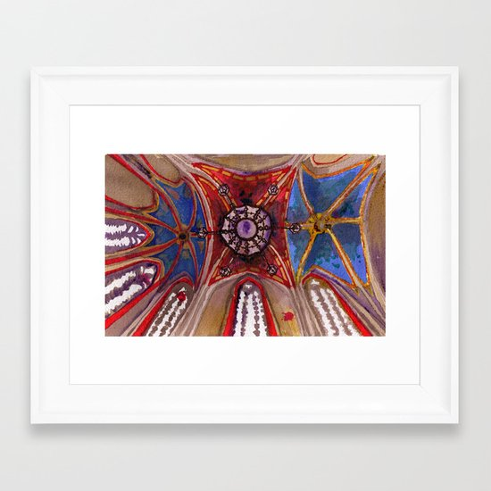 Ceiling o' joy Framed Art Print