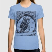 Night Owl V.1 Womens Fitted Tee Athletic Blue SMALL