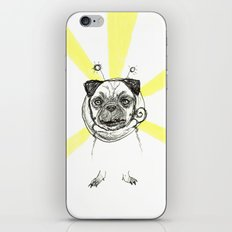 Pug in Space Silly Doodle iPhone & iPod Skin
