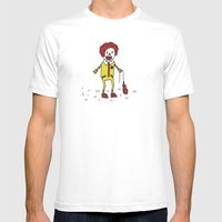 Sad Ronald McDonald In A… Mens Fitted Tee White SMALL