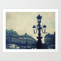 Paris in August Art Print