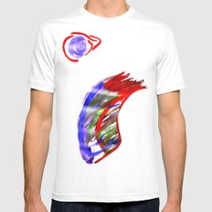Face and a moon White Mens Fitted Tee SMALL