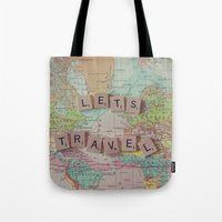 Let's Travel Tote Bag