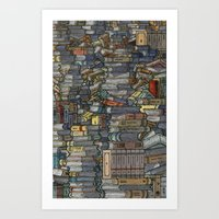 Closed Books Art Print