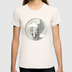 Town Facet Womens Fitted Tee Natural SMALL