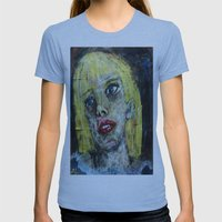 BLANDINA VON WASP Womens Fitted Tee Athletic Blue SMALL