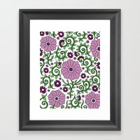 Mauve Raspberry Wildflow… Framed Art Print