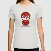 ChibizPop: Faster than... Womens Fitted Tee Silver SMALL