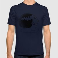 Bride Of Frankenstein Mens Fitted Tee Navy SMALL