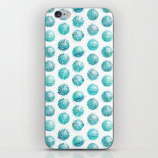 Sketchy dots - teal iPhone & iPod Skin