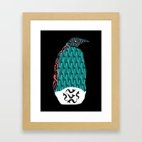Abstract Penguin Framed Art Print