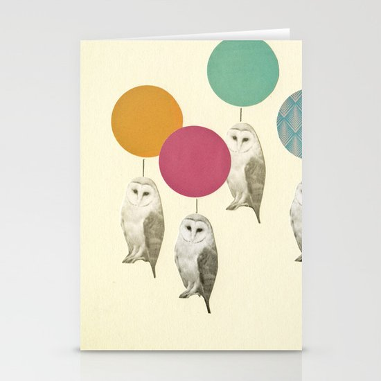 Balloon Landing Stationery Card