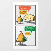 Mexican Food Puns Art Print