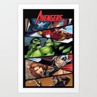 THE.AVENGERS  Art Print