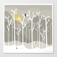 Moonshine Forest Canvas Print