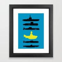 Know Your Submarines V2 Framed Art Print
