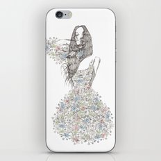 Flower Girl - pattern iPhone & iPod Skin