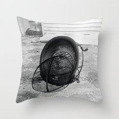Fire Pit Throw Pillow
