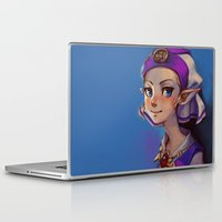 zelda Laptop & iPad Skins featuring Princess Zelda by lulles