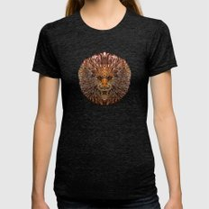 Golden Leo Womens Fitted Tee Tri-Black SMALL