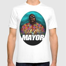 Biggie Smalls for Mayor SMALL Mens Fitted Tee White