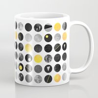 Dots / Yellow & Black Mug