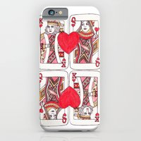 iPhone & iPod Case featuring King and Queen of Hearts by HarrietAliceFox