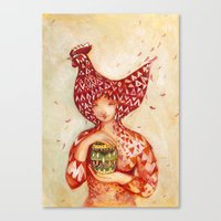 Chicken Or The Egg? Canvas Print