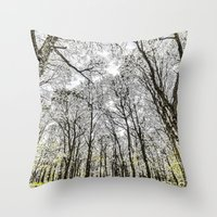 The Snowy Forest Throw Pillow