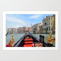 Gondola Ride in Venice Art Print