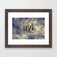 Live! Framed Art Print
