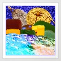Bubble Bath Art Print
