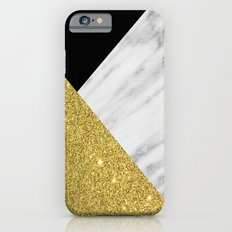 Marble & Gold Geometry iPhone 6 Slim Case