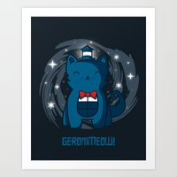 Geronimeow Art Print