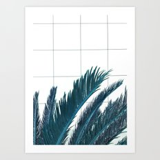 Blue Palms Art Print
