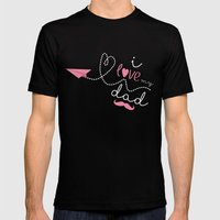 I love my dad Mens Fitted Tee Black SMALL