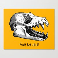 Fruit Bat Skull Canvas Print
