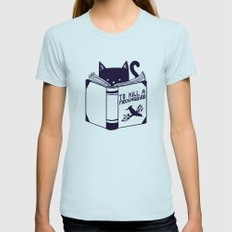 How To Kill a Mockingbird Womens Fitted Tee Light Blue SMALL