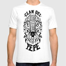 Clan del Pepe White SMALL Mens Fitted Tee