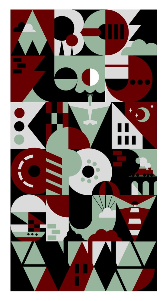 Urban Alphabet Art Print
