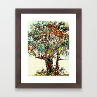 Tree Mosaic Framed Art Print