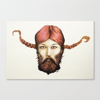 Wendy, The Bearded Lady Canvas Print