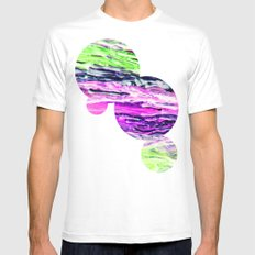 Wax #4 Mens Fitted Tee SMALL White