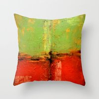 Textured Abstract In Gre… Throw Pillow
