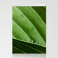 four dew drops Stationery Cards
